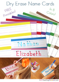 Name Strips Printable - 8 Colors!