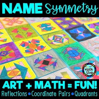 Name Symmetry Art Math Activity