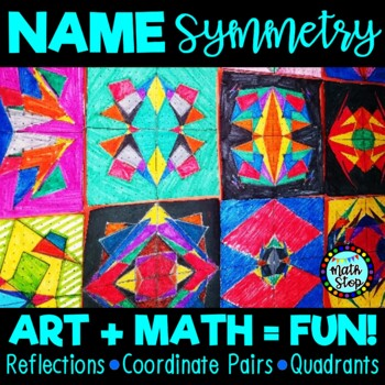 Name Symmetry Art Math Activity