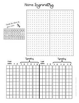 Math Art Activity Name Symmetry | Transformations Reflections Quadrants