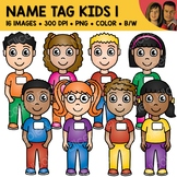 Name Tag Kids Clipart 1