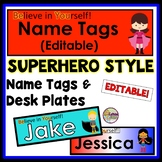 Desk Tags and Desk Plates EDITABLE for Student Names
