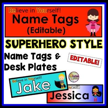 Name Tags & Desk Plates - EDITABLE