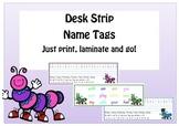 Cute Caterpillar Name Tag Desk Strips
