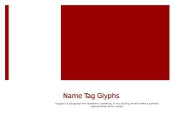 Name Tag Glyph