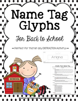 Name Tag Glyphs for Back to School