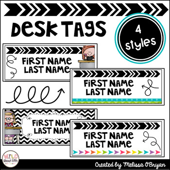 Name Tag Labels (Editable) for Desks, Lockers, Mailboxes, Supply Bins and MORE
