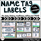 Name Tag Labels (Editable) for Desks, Lockers, Mailboxes,