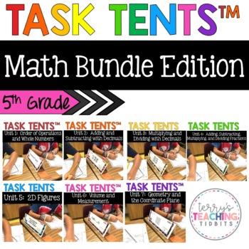 Task Tents™ Bundle - 5th Grade Math Edition {ALL 7 UNITS}