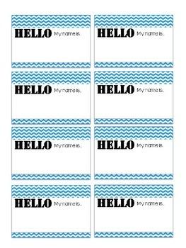 Name Tag Printable
