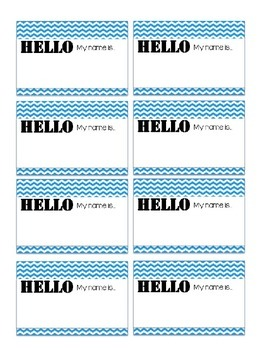 Name Tag Printable