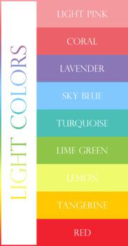 Name Tag Set - Light Colors