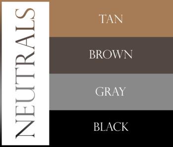 Name Tag Set - Neutral Colors