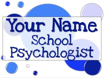Name Tag Sign - Blue