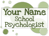 Name Tag Sign - Green
