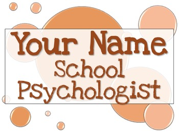 Name Tag Sign - Orange