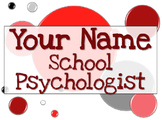 Name Tag Sign - Red