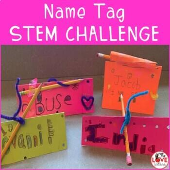 Name Tag Stem Challenge- Back to School