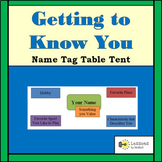 Name Tag - Table Tent