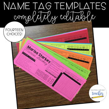 Name Tag Templates {Editable}