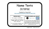Name Tag Tents - LEGAL SIZE - Plain Background