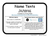 Name Tag Tents - LETTER SIZE - Plain Background