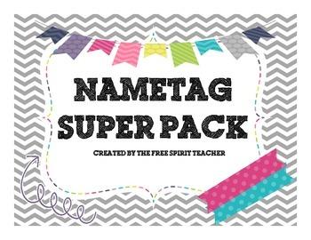 Name Tag/Desk Plate Super Pack!