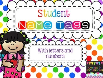 Name Tags- Colorful Polka Dots