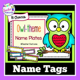 Name Tags Desk Plates Owl-theme