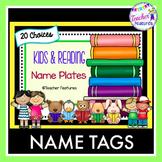 Name Tags Desk Plates READING BOOKS THEME
