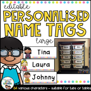 Student Name Labels {Large Editable Name Tags}