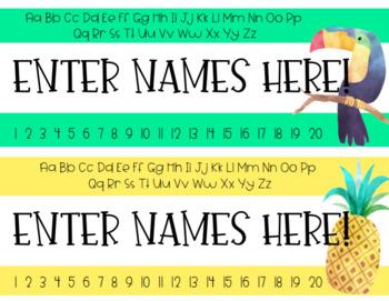 Tropical Name Tags