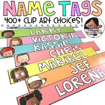 Name Tags 400+ Kid Choices {Pastel Kidlettes Edition}