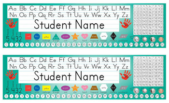 Desk Name Tags 8.5x14 in Microsoft Publisher (Multicolor & Editable)