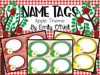 Name Tags (Apple Theme)