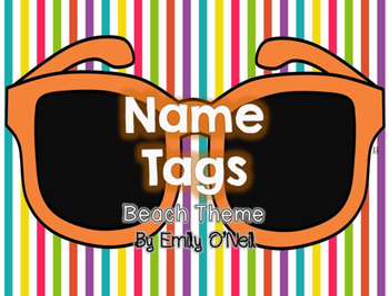 Name Tags (Beach Theme)