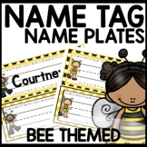 Name Tags Bee Themed