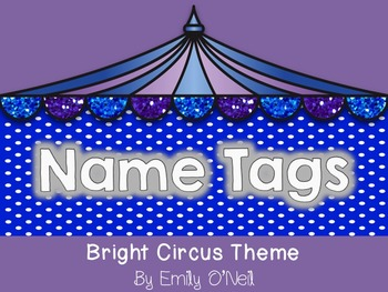 Name Tags (Bright Circus Theme)