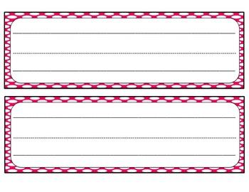 Name Tags (Brights & Polka Dots)