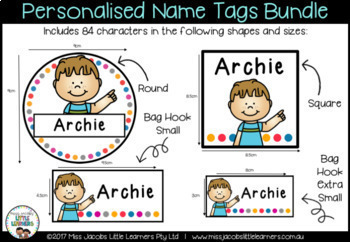 Name Labels Bundle - Editable and Personalised | Name tags