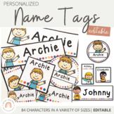 Name Labels Bundle - Editable and Personalised   Name tags