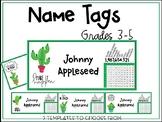 Name Tags - Cactus