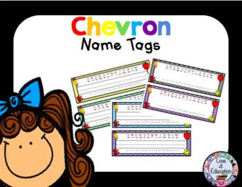 Name Tags Chevron Theme
