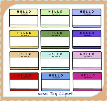 Name Tags Clipart