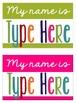 Name Tags {Colorful Name Tags}