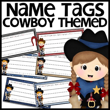 Cowboy Themed Name Plates