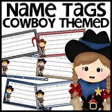 Cowboy Themed Name Plates