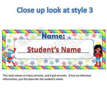 EDITABLE Name Tags / Desk Name Plates Superhero Themed Classroom Organization