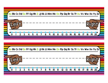 Name Tags/ Desk Plates - Editable Rainbow Theme