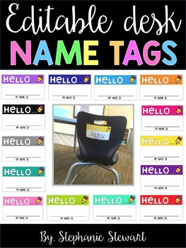 Hello Name Tags (EDITABLE)